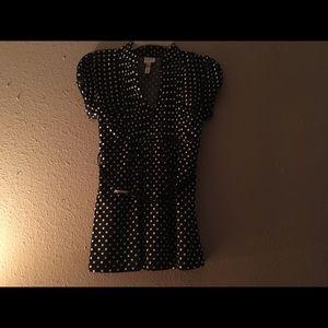 Black and white poke a dot dress shirt